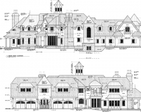 French Chateau Residence Elevations 1