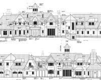 French Chateau Residence Elevations 2