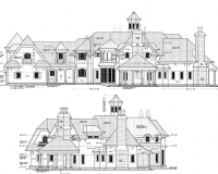 French Chateau Residence Elevations 3