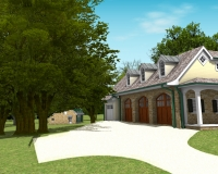 New Old Farm house 3D Renderings