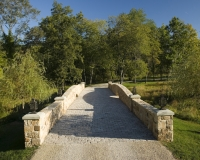 Tuscan Villa stone bridge