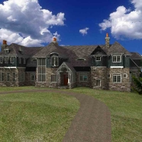 Shingle Style Country-front_perspective