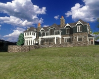 Shingle Style Country rear perspective